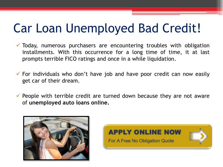 unemployed loans with bad credit - 3