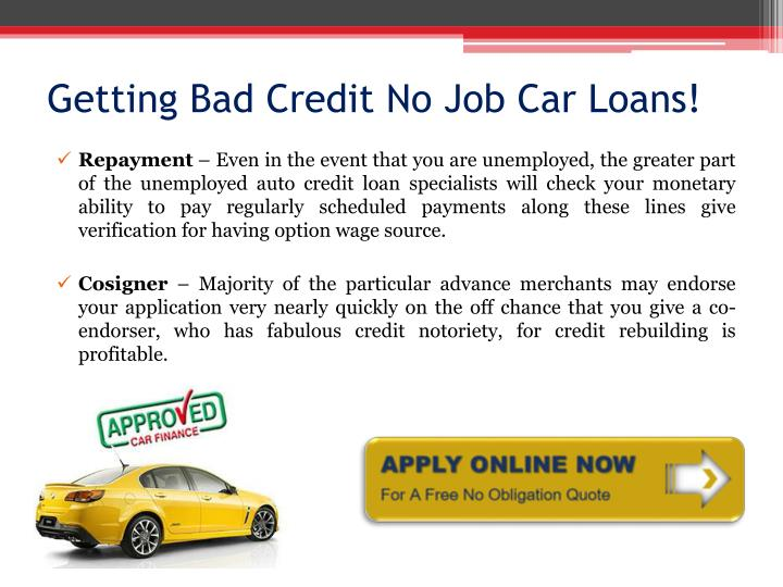 Getting Approved For A Car Loan With No Job