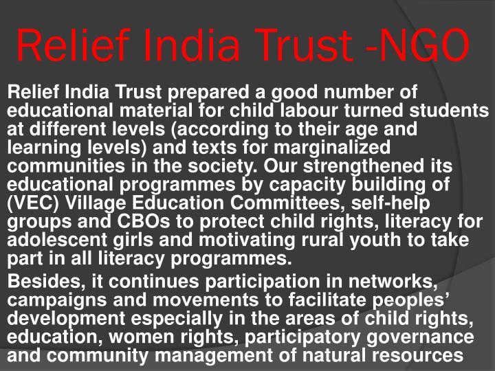 Relief India Trust -NGO
