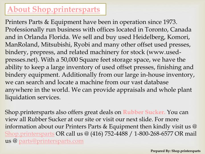 About Shop.printersparts