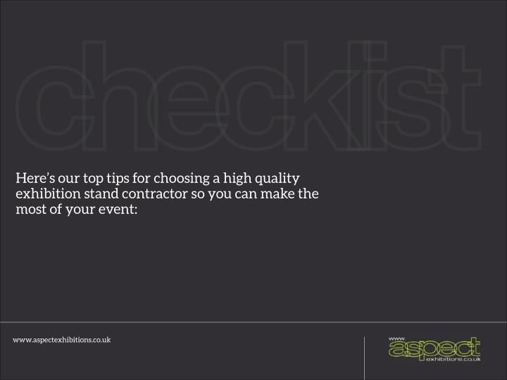 Here's our top tips for choosing a high quality