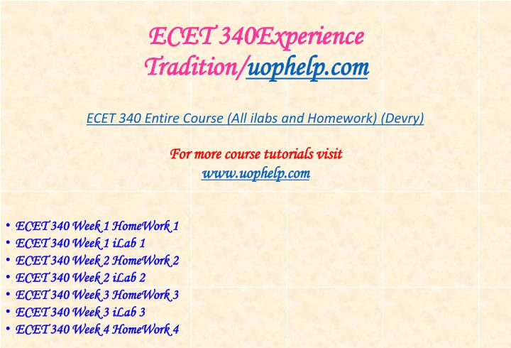 Ecet 340experience tradition uophelp com1