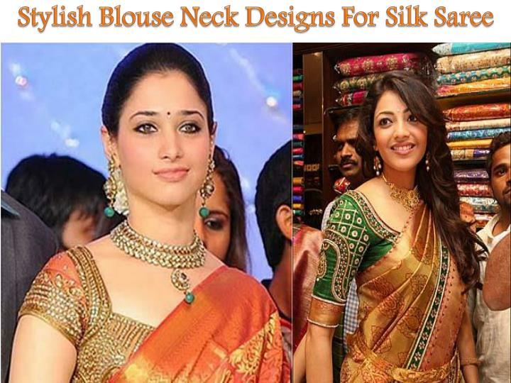Stylish Blouse Neck Designs For Silk Saree