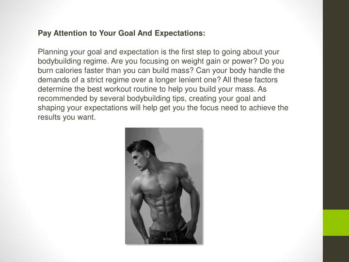 Pay Attention to Your Goal And Expectations: