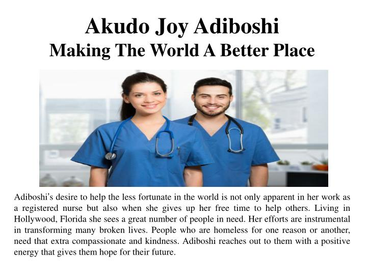 Akudo Joy Adiboshi