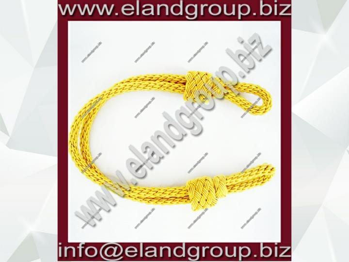 Gold bullion cap cord