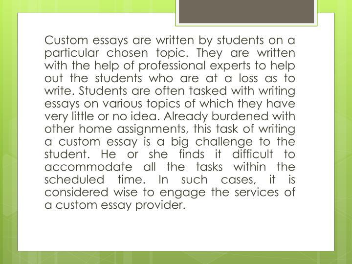 Australian custom essay writing