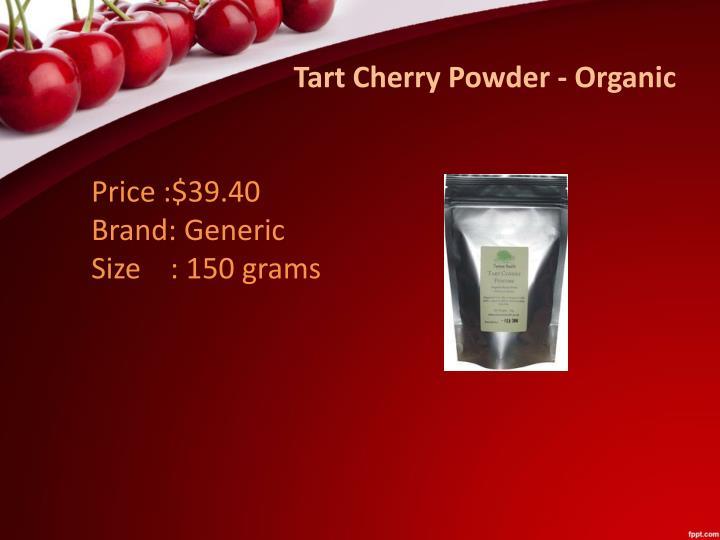 Tart Cherry Powder - Organic