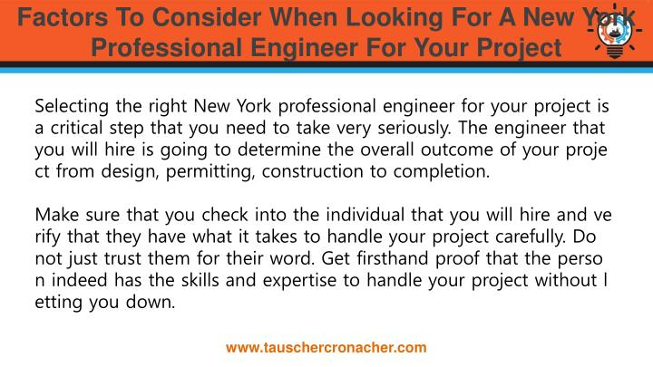 Factors to consider when looking for a new york professional engineer for your project