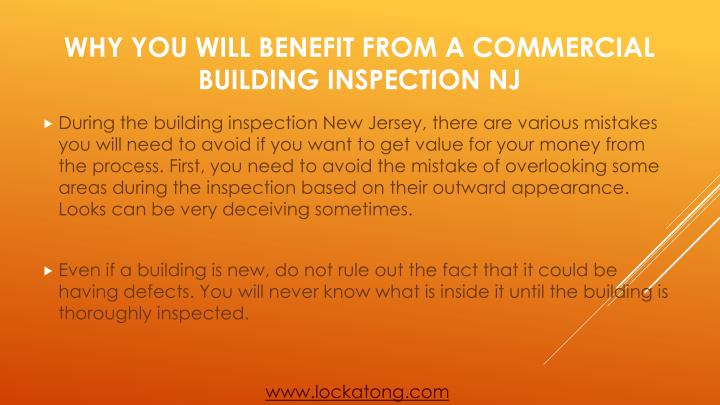 During the building inspection New Jersey, there are various mistakes you will need to avoid if you want to get value for your money from the process. First, you need to avoid the mistake of overlooking some areas during the inspection based on their outward appearance. Looks can be very deceiving sometimes.