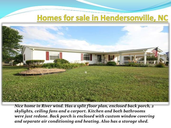 Homes for sale in Hendersonville,