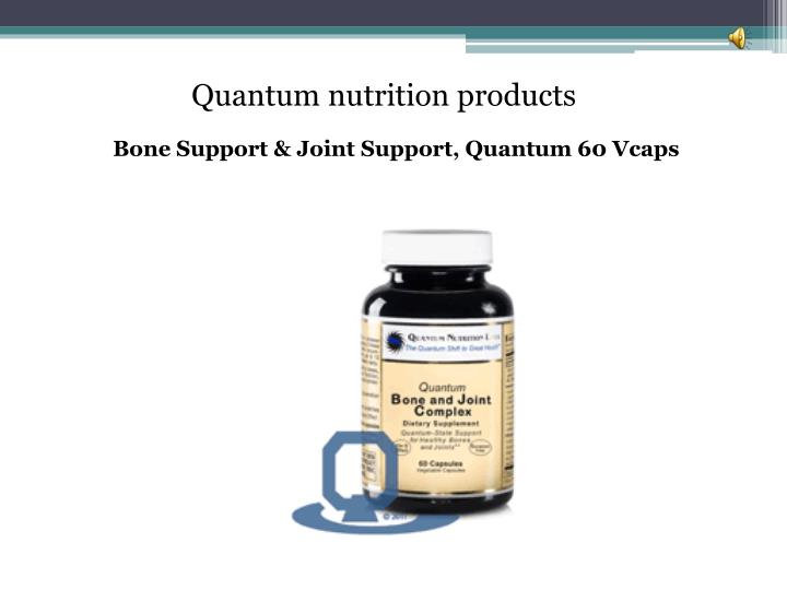 Quantum nutrition products