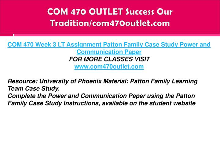 COM 470 OUTLET Success Our Tradition/com470outlet.com