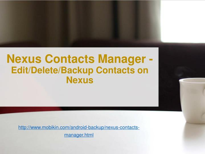 Nexus Contacts Manager -