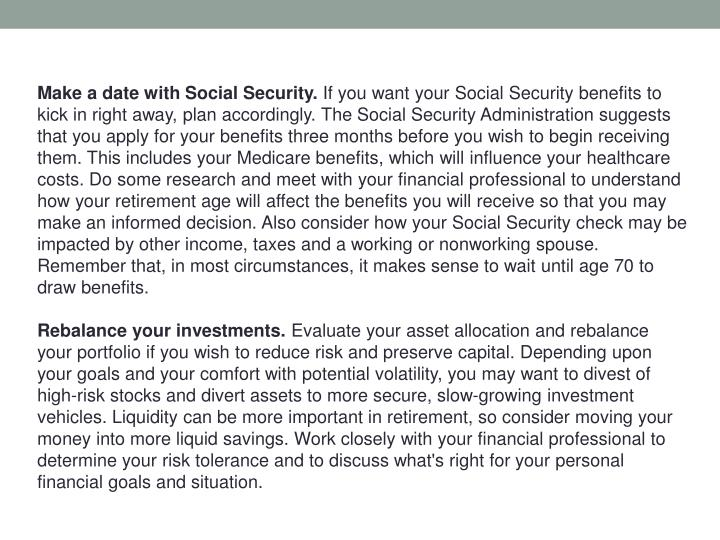 Make a date with Social Security.