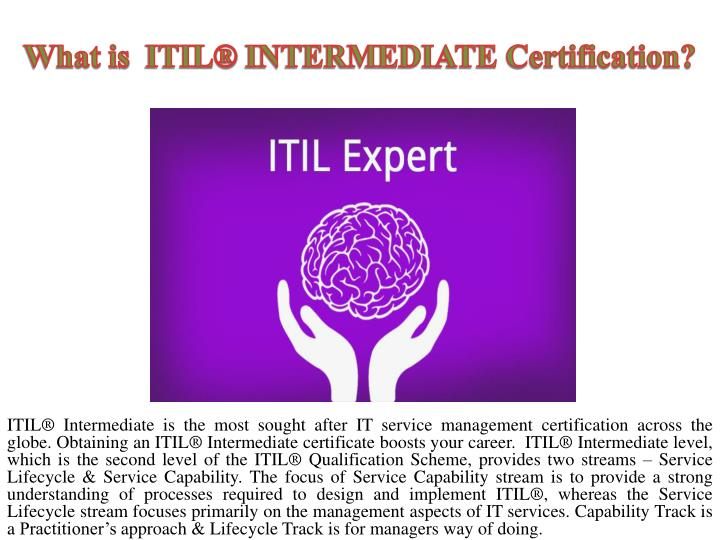 What is itil intermediate certification