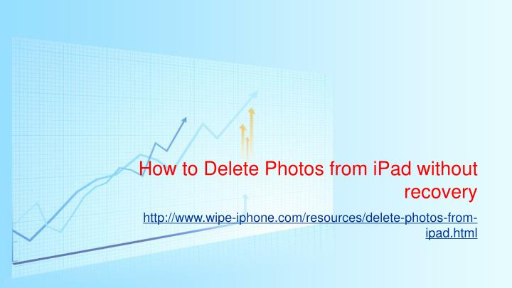 How to delete photos from ipad without recovery