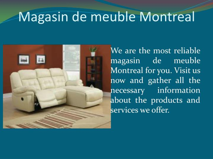 Ppt montreal furniture liquidation powerpoint for Liquidation de meuble montreal