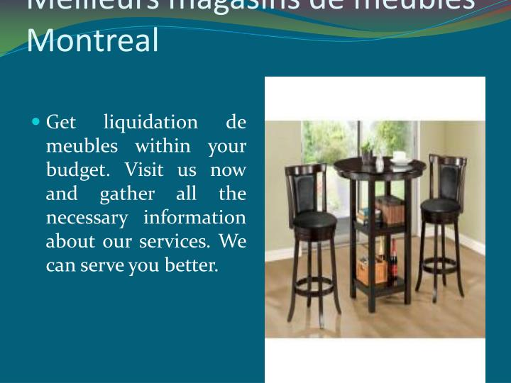 Ppt montreal furniture liquidation powerpoint for Meuble to go montreal