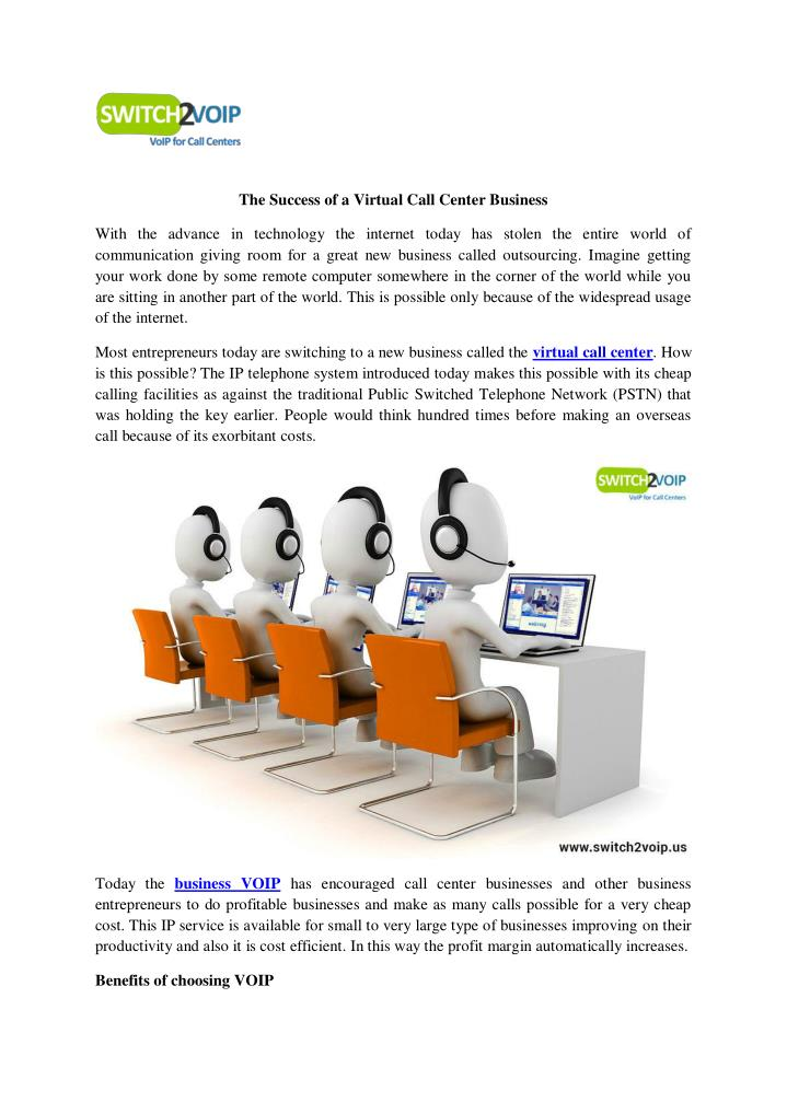 The Success of a Virtual Call Center Business