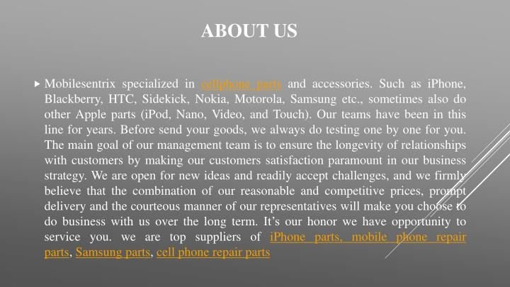 Mobilesentrix specialized in