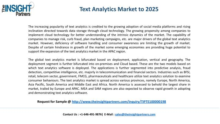 Text Analytics Market to 2025
