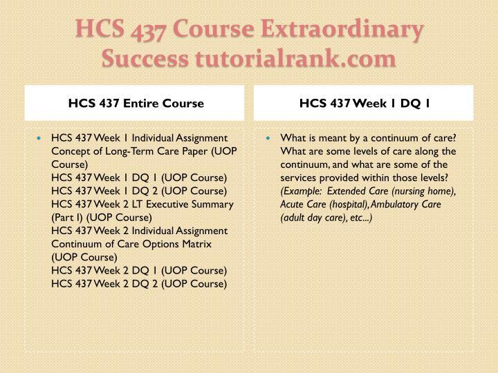 HCS 437 Entire Course
