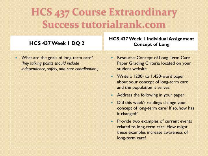 HCS 437 Week 1 DQ 2