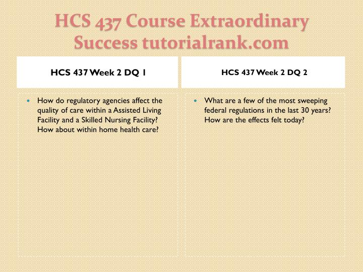 HCS 437 Week 2 DQ 1