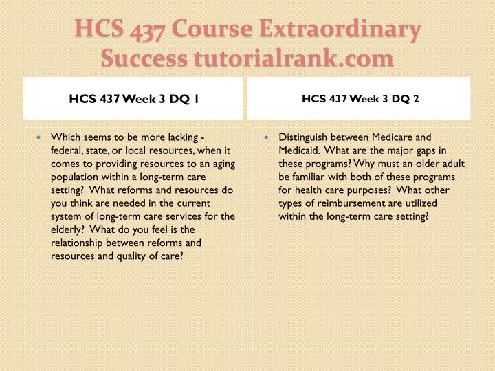 HCS 437 Week 3 DQ 1