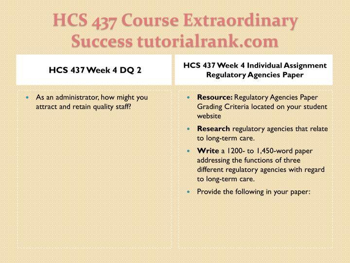 HCS 437 Week 4 DQ 2