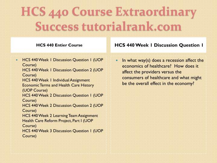 HCS 440 Entier Course