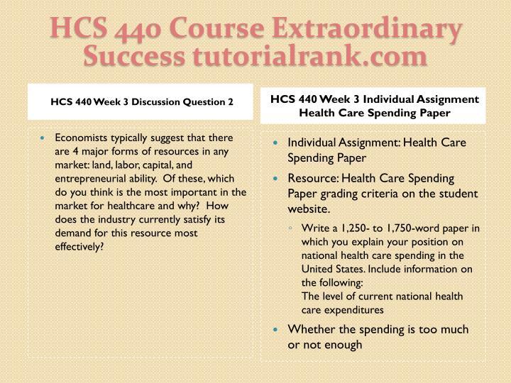 HCS 440 Course Extraordinary  Success tutorialrank.com