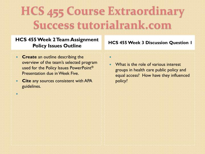 hcs week 3 individual powerpoint Hcs 475 is a online tutorial store we provides hcs 475 week 5 learning team assignment leadership and decision making powerpoint presentation.