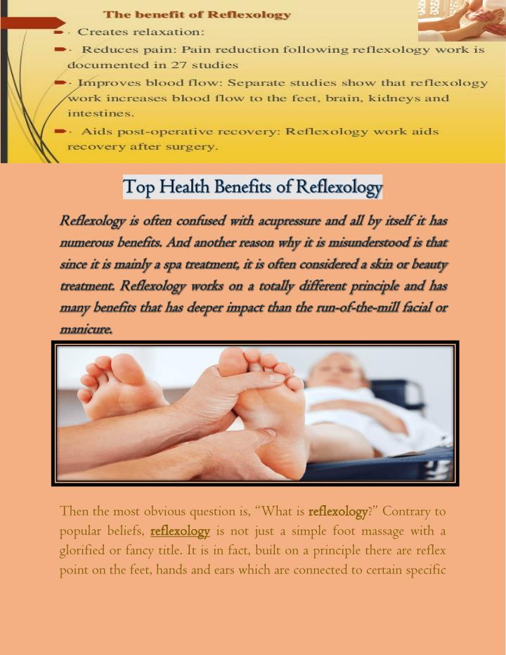 10 Benefits of Reflexology  Organic Facts