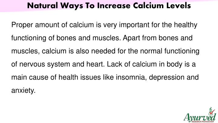 Natural Ways To Increase Calcium Levels