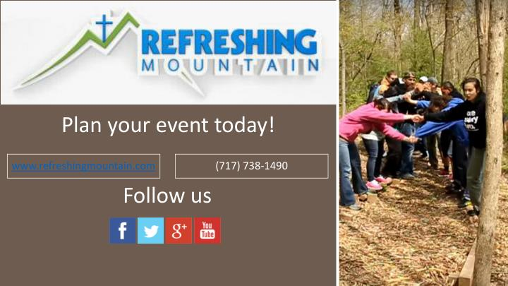 Plan your event today!