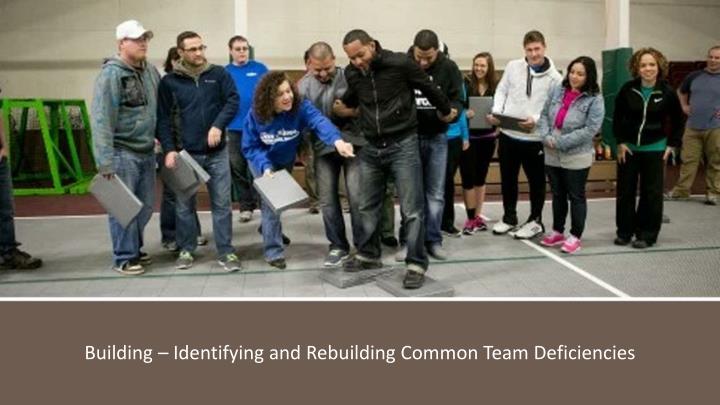 Building – Identifying and Rebuilding Common Team Deficiencies