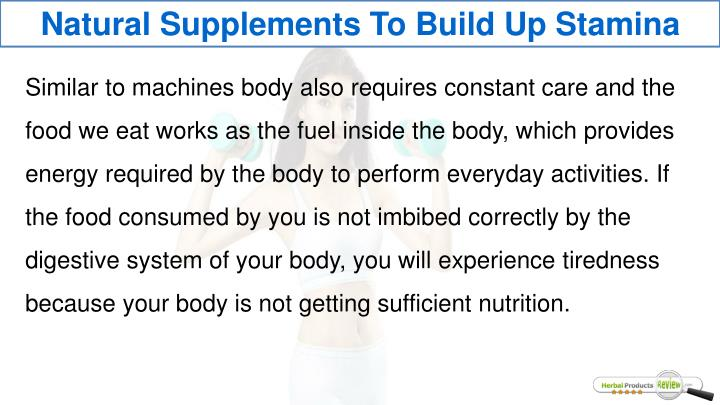 Natural Supplements To Build Up Stamina