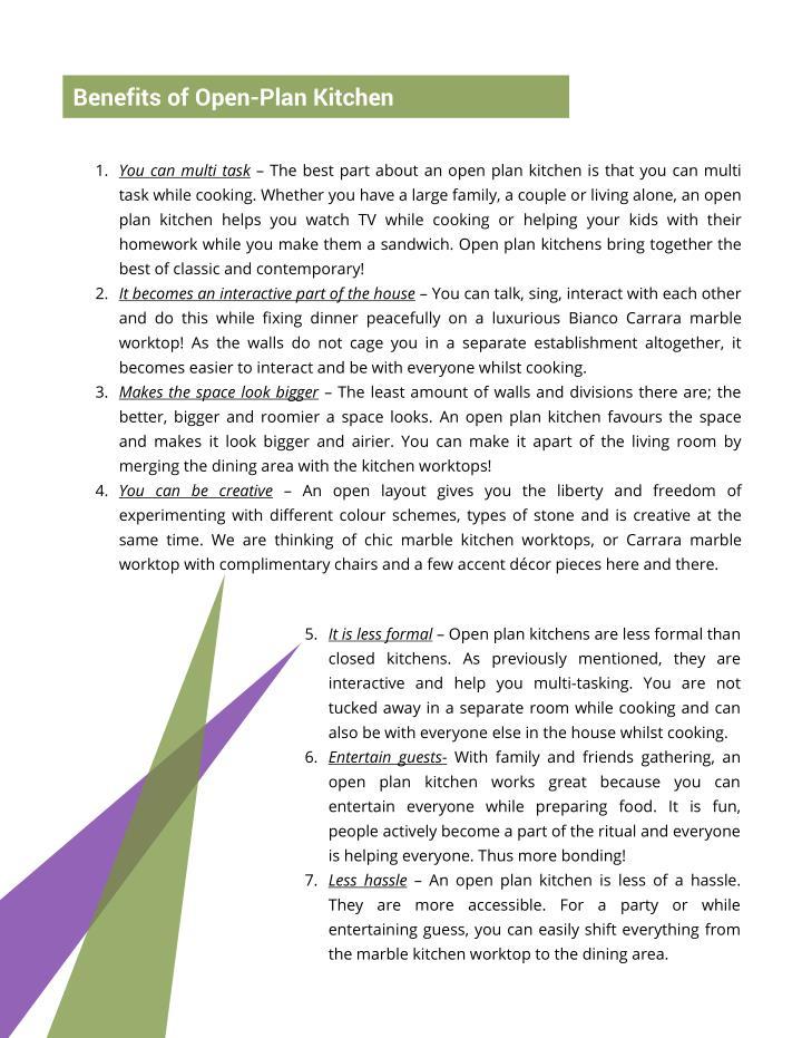 Benefits of Open-Plan Kitchen
