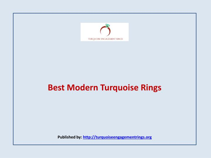 best modern turquoise rings published by http turquoiseengagementrings org