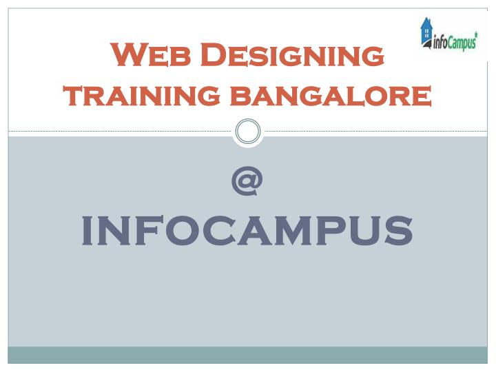 Web designing training bangalore