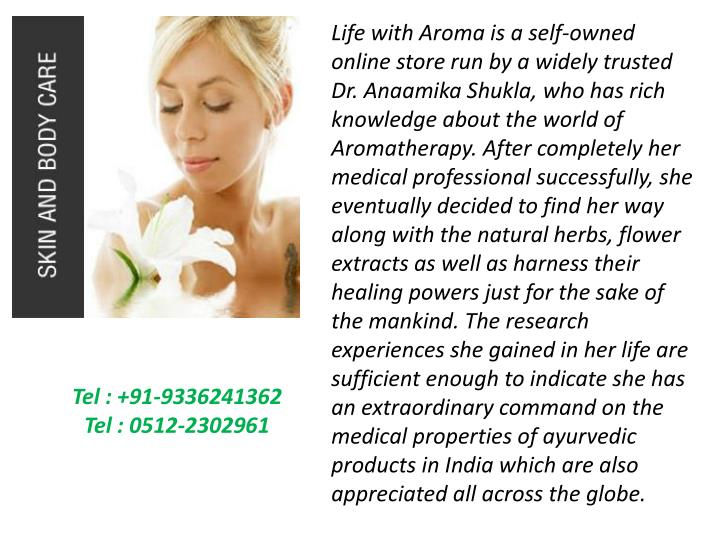 Life with Aroma is a self-owned online store run by a widely trusted Dr.