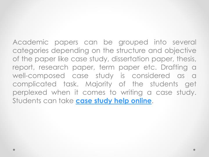 Academic papers can be grouped into several categories depending on the structure and objective of t...