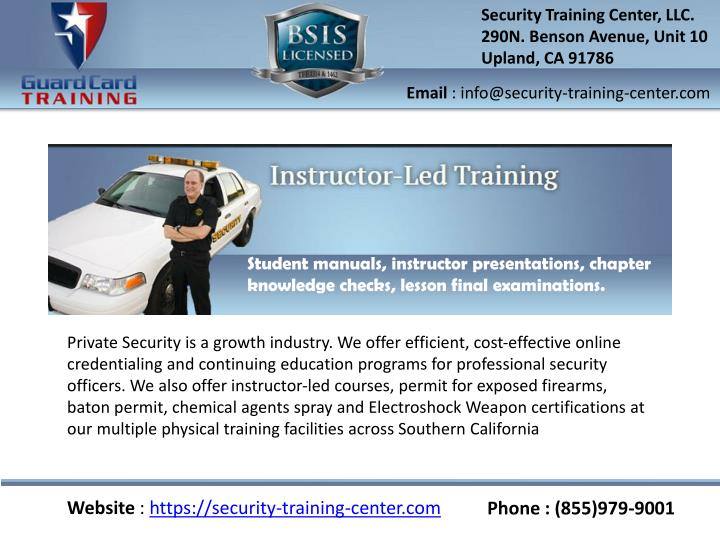 Security Training Center, LLC.