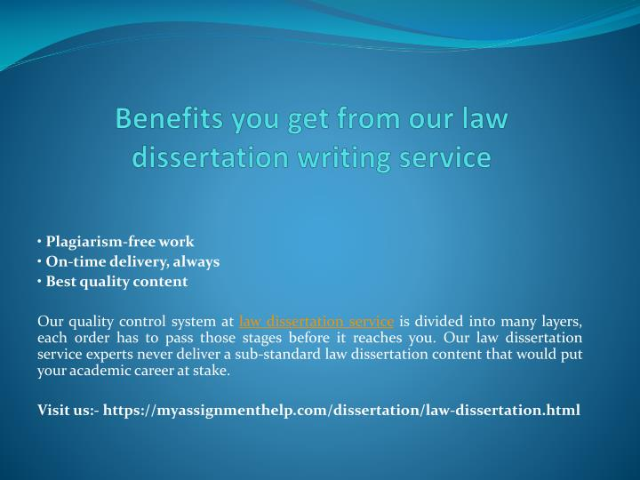 Topics for dissertation in law