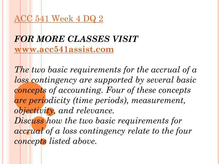 acc 541 week 1