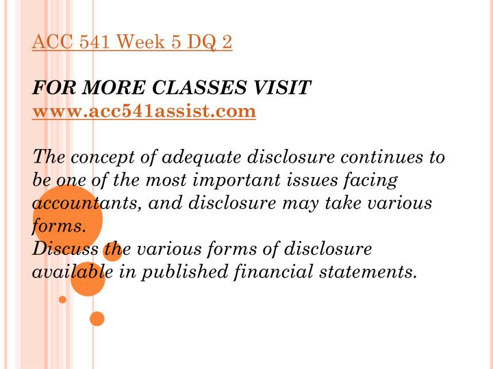 acc 541 reporting paper View homework help - acc 541 week 5 individual assignment reporting paper from acc 541 at university of phoenix reporting paper1 reporting paper name acc/541 date.