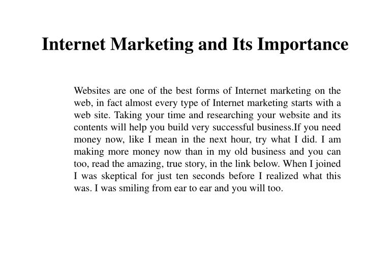 Internet Marketing and Its Importance