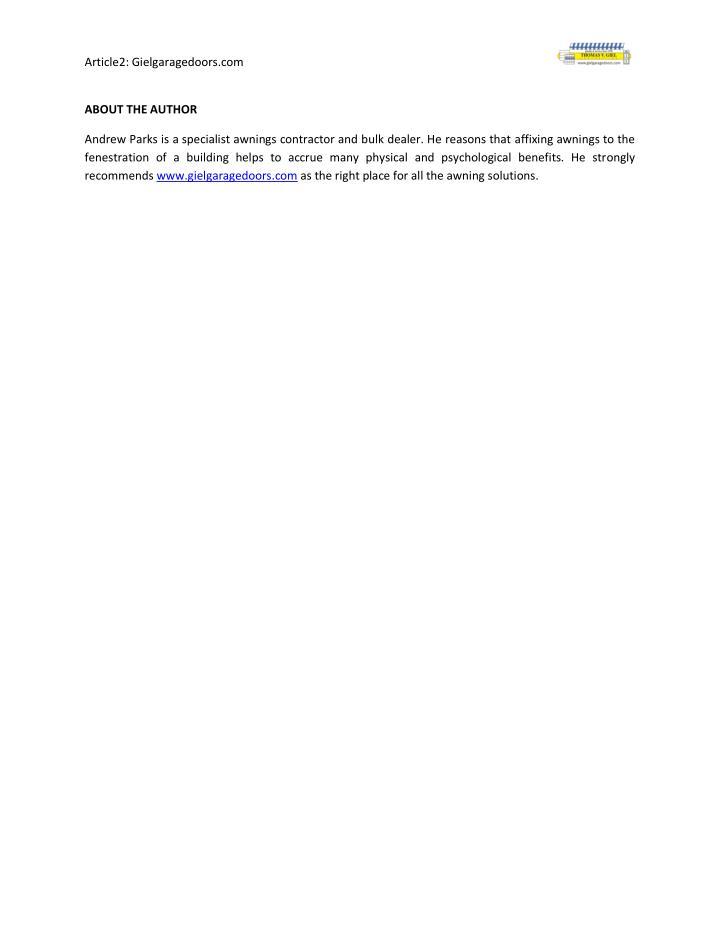 Article2: Gielgaragedoors.com